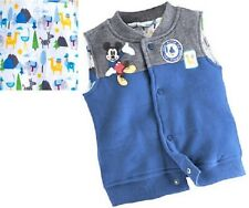 Mickey Mouse Vest Coat Jacket Lined NWT Disney Store Baby sizes 3-18 months