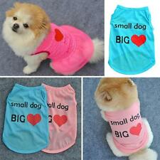 Cute Pet Dog Cat Sleeveless Cotton Tee Shirts Puppy Doggy T-Shirt Tops Apparels