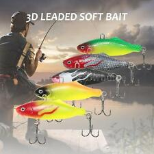2pcs PVC Sub Soft Fishing Lure Pike Salmon Baits Bass Trout Fish Hook SetTH K1J2