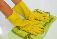2016 Yellow Waterproof Rubber Protective Dishwashing Clean Gloves Orange Laundry
