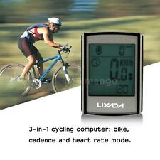 3-in-1 Wireless LCD Bicycle Cycling Computer + Cadence Heart Rate Monitor Z6W7