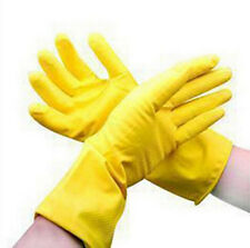 Gloves Laundry Clean Waterproof Dishwashing Yellow Orange Protective Rubber