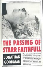 NEW The Passing of Starr Faithfull by Jonathon Goodman Paperback Book (English)