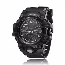OHSEN Fashion Men's Chronograph Analog Digital Rubber Wrist Military Sport Watch