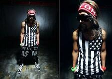 Sleeveless vest Hot summer New American Flag T-shirt Fashion Men's Tank Top