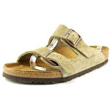 Birkenstock Arizona Men B Open Toe Suede Tan Slides Sandal NWOB