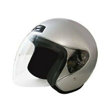 HCI-20 Silver Open Face Scooter 3/4 Helmet DOT Approved