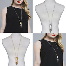 1X Tassel New Sweater Chain Pendant Gold Silver Plated Long Necklace Jewelry Hot