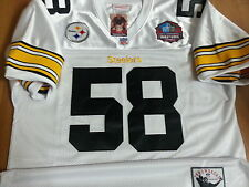 Brand New! Pittsburgh Steelers #58 Jack Lambert  HOF Patch stitched Jersey Mens