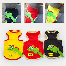 Lovely Pet Sleeveless T-shirt Cartoon Puppy Summer Shirt Cat Doggy Vest Apparel