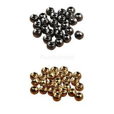 25 x Tungsten Slotted Fly Tying Beads Nymph Head Ball Beads Gear 2.4/3.3/4/4.6mm