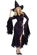 New Girl All Black Gothic Witch Halloween Costume Gown Fancy dress women fashion