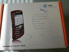 Blackberry 8310 AT&T Mobile Curve Unlocked GPS GSM smartphone RED