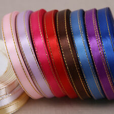 Wonderful 25 Yards 10mm  Satin Ribbon Wedding Packaging Bow Cake Gift Box