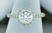 Women's 1 ct Simulated Diamond Promise/Engagement Halo Ring 14k Solid White Gold