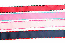 3m 25mm wide Trimmed Edge PLAIN Craft Gift Wrap Grosgrain Ribbon Red Pink Navy
