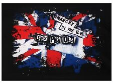 Sex Pistols - Anarchy in the UK Black Textile Flag 77x105cm