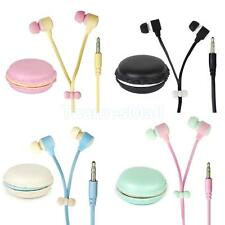 3.5mm Portable In-Ear Mp3 PC Phone Earphone Earbuds with Macaron Storage Box