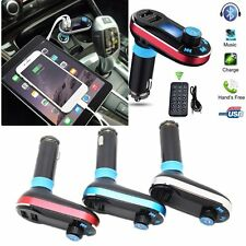 Bluetooth Car Kit MP3 Player FM Transmitter SD USB Charger For iPhone 6s Samsung