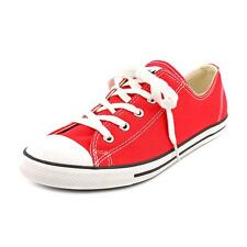 Converse Chuck Taylor All Star Dainty Ox Women  Round Toe Canvas Red Sneakers