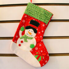 Christmas Stocking Gift Bag Santa Snowman Hanging Sock Party Ornament Decoration