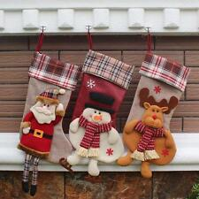 Christmas Sock Gift Candy Bag Santa Claus Snowman Elk Xmas Decoration Ornament