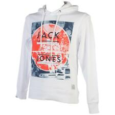 Sweat capuche hooded Jack and jones New jade white cap sweat Blanc 69250 - Neuf