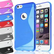 Thin Gel S Line TPU Grip Silicone Wave Clear Back Case Cover For Apple iPhone 7