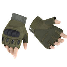 Hot Men's Outdoor Sports Half Finger Military Tactical Shooting Hunting Gloves