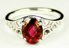 • SR005, Crimson Fire Topaz, 925 Sterling Silver Ladies Ring -Handmade