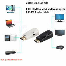 HDMI Male to VGA Female Video Adapter Cable Converter+AV Audio Cable For PC AU