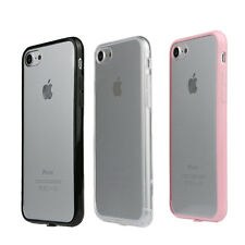 """Fit For iPhone 7 4.7"""" Hard Acrylic Soft Edge Transparent Shell Cover Case Newest"""
