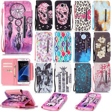 Magnetic Flip Card Holder Wallet Case PU Leather Stand Phone Cover Skin+Strap