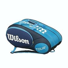 Wilson Mini Tour Racquet Bag (Holds up to 6 Racquets), Blue