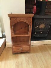 Solid Old Pine 1980s Wall Dresser Unit Shelves Shabby Chic