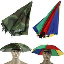 #QZO Outdoor Foldable Sun Umbrella Hat Golf Fishing Camping Headwear Cap Hea