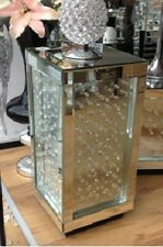 Contemporary Mirrored Venetian Glass Floating Crystal End Table