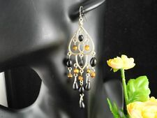 New Fashion Ethnic Style Black Tone Bead Dangle Earrings NE237