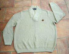 MENS FRED PERRY JUMPER  SIZE XXL STONE/BEIGE COLOUR HEAVYWEIGHT JUMPER VGC