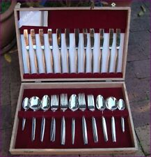 Vintage Wiltshire Silverplate Cutlery Set for 6 Boxed Canteen - 44 Pieces
