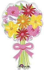 """30"""" Mom Floral Bouquet Shape Mylar Foil Balloon (Mother's Day)"""