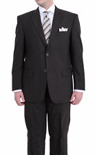 Renoir Classic Fit Solid Brown Two Button Wool Suit