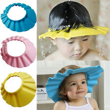 New Soft Shower Cap Hat Baby Kids Children Shampoo Bath Bathing Wash Hair Shield