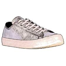 Converse All Star Ox Leather - Men's Basketball Shoes (Pure Silver/WT Width:Med
