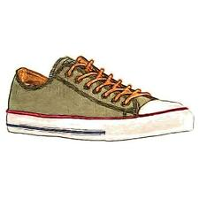 Converse All Star Ox - Men's Basketball Shoes (Herbal Biscuit/Egret - Width:Med