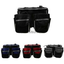 Nylon Cycling Bike Bicycle Top Frame Pannier Front Tube Double Saddle Bag Pack