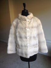 Vintage White Mink Fur Coat Jacket Blum's Vogue 1960 1970