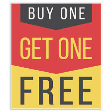 Business Window Retail Buy One Get One Free Sale Sign