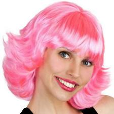 1950'S GREASE FRENCHY PINK ADULT WIG FANCY DRESS COSTUME PARTY