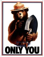 Smokey Bear - Only You Tin Sign 13 x 16in